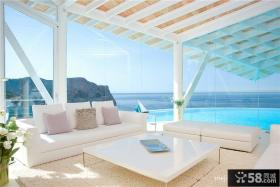现代风格客厅阳台设计效果图欣赏