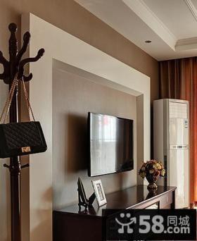 美式风格简装电视背景墙装修效果图
