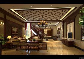 中国豪华中式古典风格别墅装修效果图