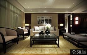 现代中式风格客厅装修效果图片