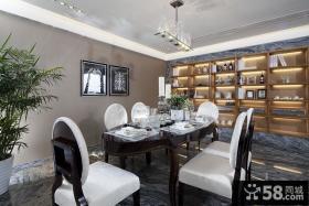 现代豪华别墅室内餐厅装饰设计效果图