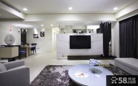 现代风格一居电视背景墙装饰设计图片
