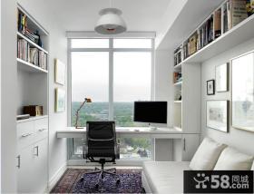阳台书房家具效果图