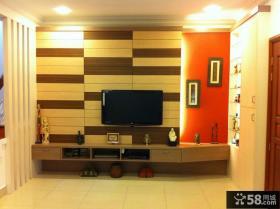 美式设计2平米客厅电视背景墙