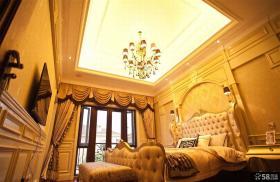 欧式古典风格卧室方形吊顶图片大全