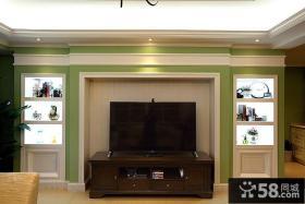 美式家具实木电视柜图片