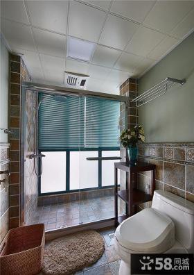 美式现代风格卫生间效果图片