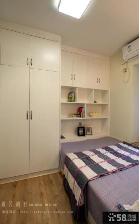 2013现代风格男孩单间卧室组合衣柜装修效果图