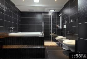 后现代设计风格室内卫生间家装效果图