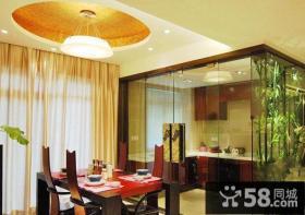中式古典装修样板房餐厅效果图