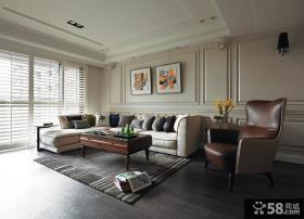 美式别墅住宅客厅设计效果图片