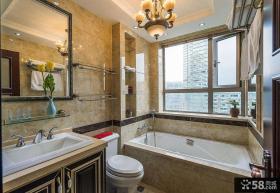 欧式风格别墅浴室室内效果图