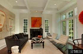 美式装修风格家居客厅效果图