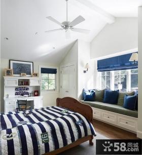 2013欧式卧室飘窗装修效果图片欣赏