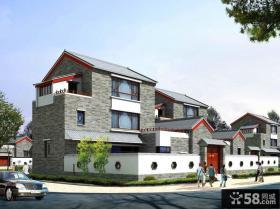 新中式别墅设计效果图欣赏
