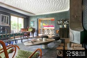 美式复古风格公寓装修效果图