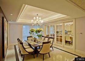 时尚住宅三室两厅豪华餐厅设计效果图