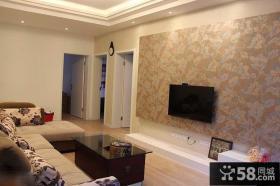 家庭客厅电视背景墙壁纸图片大全