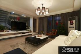 简约时尚家居客厅电视背景墙效果图