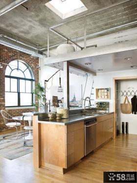 12万装修110平北欧风情复式楼厨房橱柜效果图大全