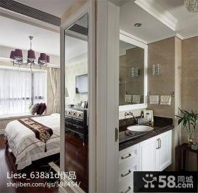 主卧室卫生间洗手台装修效果图