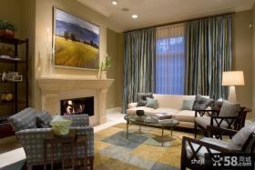 复式公寓装修 现代风格客厅图片