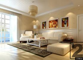 欧式客厅吊顶装修设计效果图