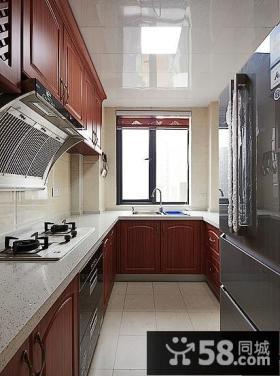 美式装饰厨房橱柜欣赏