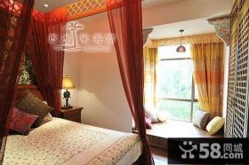 婚房卧室飘窗装修效果图
