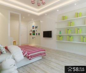 温馨清新的现代风格儿童卧室装修效果图