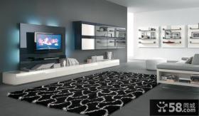 现代时尚设计客厅电视背景墙
