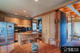 美式现代厨房装修效果图大全2014图片