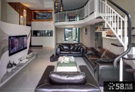 创意复式楼房客厅装修效果图