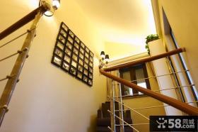 别墅楼梯间墙面装饰效果图