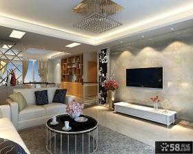 简欧客厅大理石电视机背景墙装修效果图大全2012图片