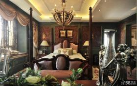 欧式复古风格卧室效果图大全
