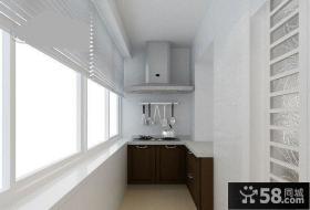 简易阳台改厨房装修效果图