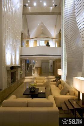 现代别墅挑高客厅装修效果图大全