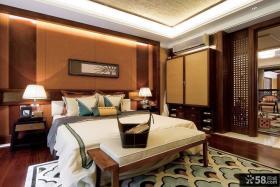 中颐海伦春天别墅样板房 中式古典美的主卧室装修