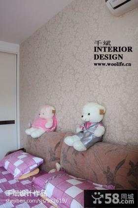 卧室床头壁纸背景墙设计