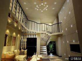 复式楼客厅吊顶装修效果图