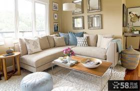 60平米小户型装修效果图 温馨的客厅沙发背景墙