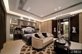欧式风格主卧室吊顶装修设计