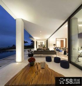 简约现代复式阳台设计图片