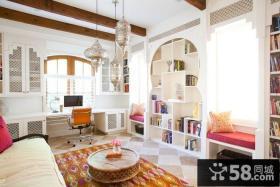 地中海风格客厅飘窗装修效果图