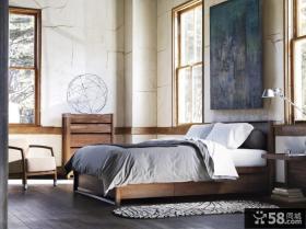 简约素雅的卧室背景墙装修效果图