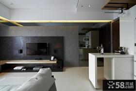 现代小户型客厅电视背景墙装修