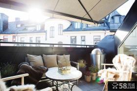 休闲北欧风格阳台布置