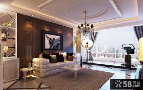 现代简约风格装修效果图 简约风格沙发背景墙装修效果图
