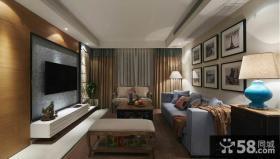 美式装修60平米一居室效果图大全